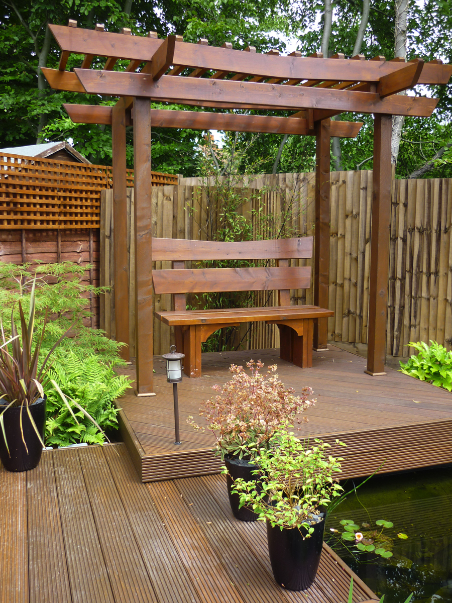 Joanna cowan garden design for Japanese garden structures wood